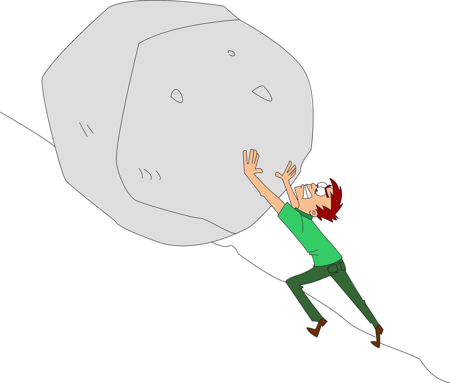 dreamstime_m_40156468.pushing boulder cartoon