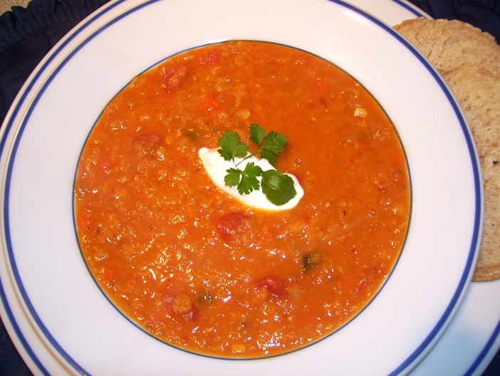 smokey tomato and lentil soup from the goodgriefcook.com