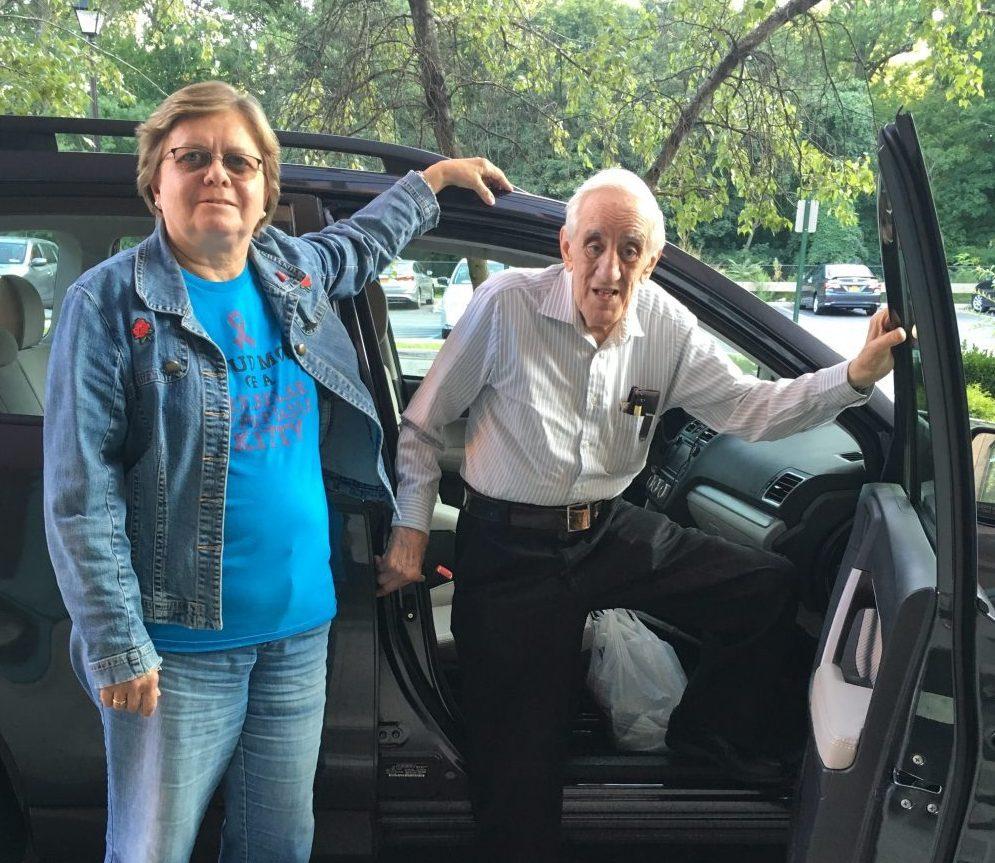Joanne Zavadosky, driving Mario Spartos