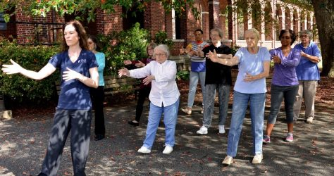 TaiChi class at Burke Rehabilitation Hospital