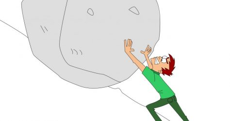 dreamstime_m_40156468.pushing boulder cartoon