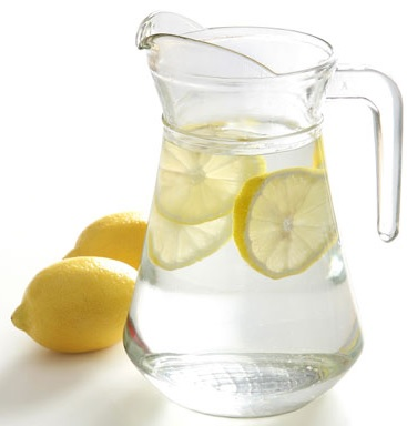 pitcher of water