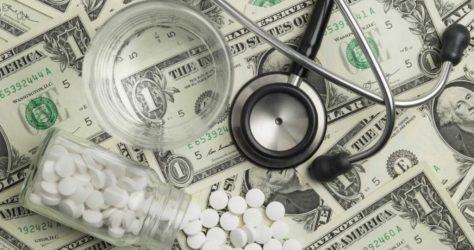 dollars, stethoscope