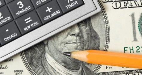 calculator and dollar