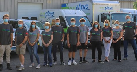 team photo with masks
