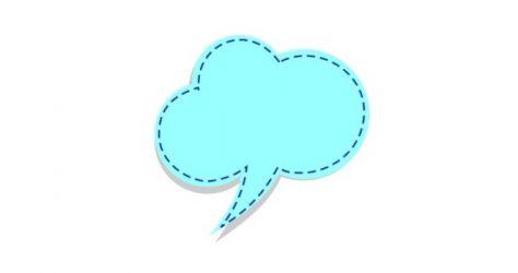 speech bubble - blue 1