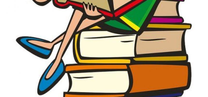 girl-160172_1280 stack of books